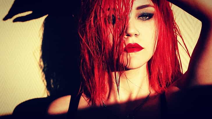 bright red hair dye