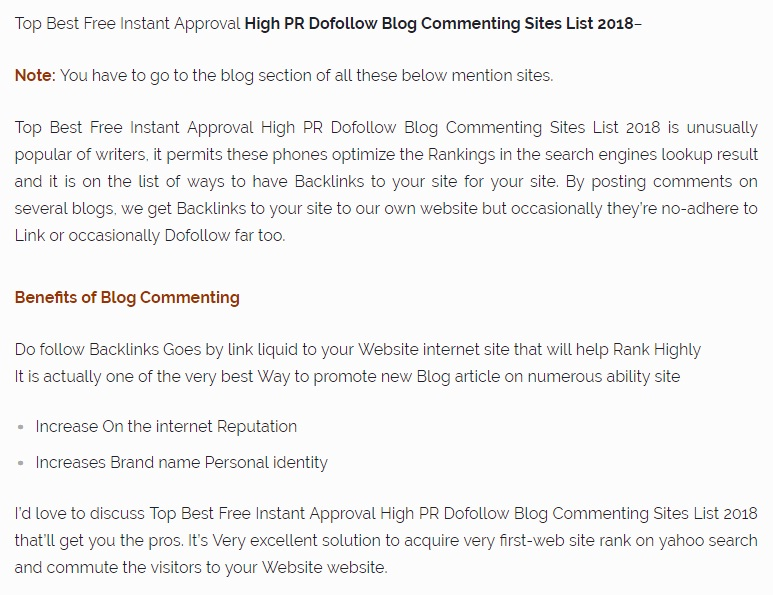 Blog Commenting Sites List 2018 By News Web Zone
