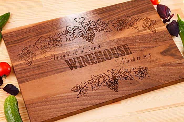 Personalized Cutting Board - An Anniversary Gift for the Aspiring Chef