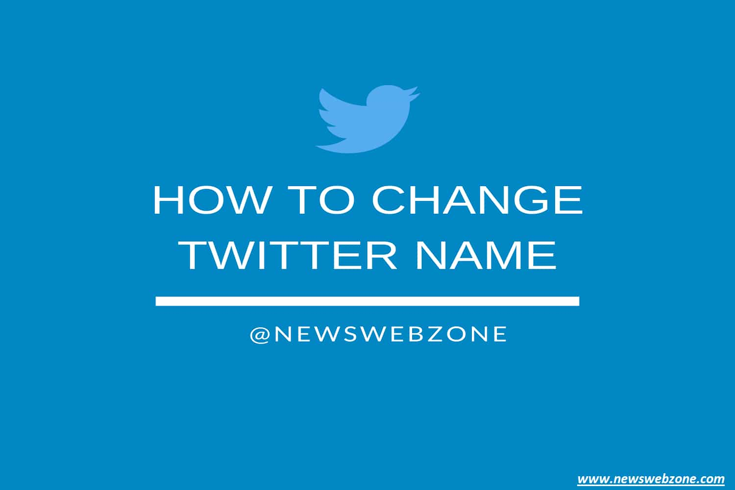 how to change your twitter name