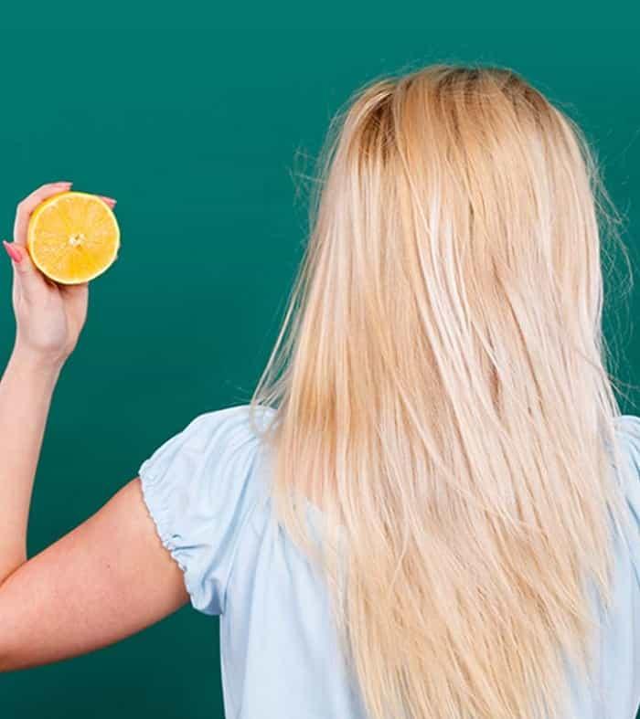 go blonde Lemon juice