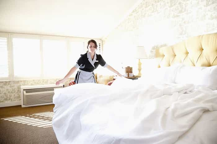 Make sure hotel sheets really are clean