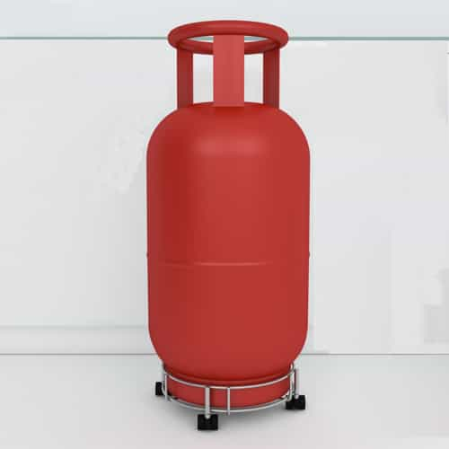 Placing the LPG cylinder