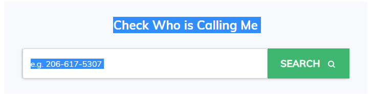 Who Is Calling Me