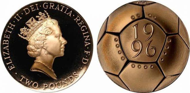 Football European Championships Gold Proof