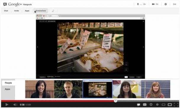 Google Hangout Screen sharing