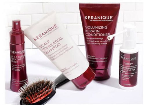 Using Haircare and Growth Products